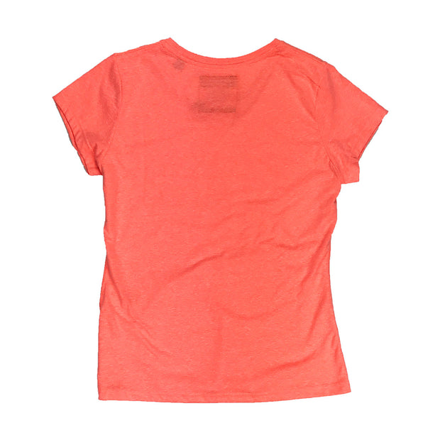 Superdry Women's Vintage Logo Foil Pop Entry Tee Peach Back