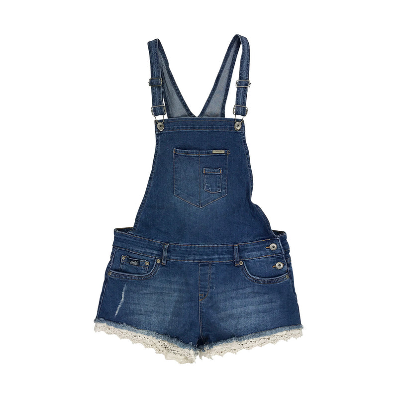 Superdry Hot Short Dungaree Blue Denim