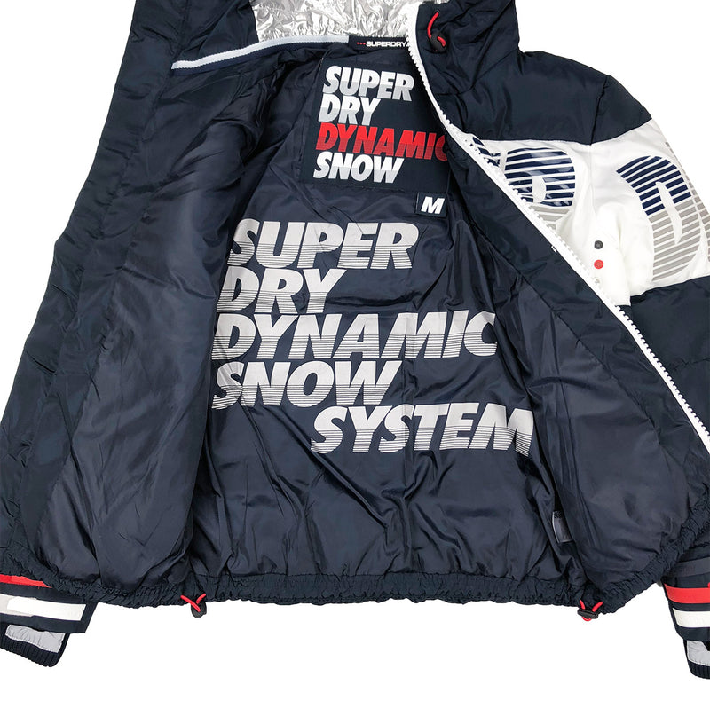 Superdry Japan Breakers Utility Jacket Navy Blue Opened Artwork