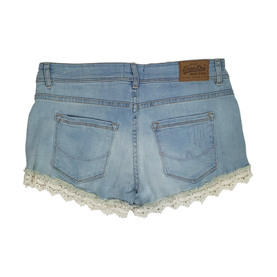 Superdry Lace Trim Hot Short Canyon Tint Back