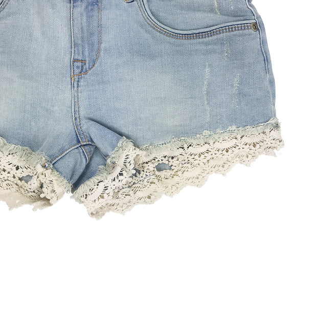 Superdry Lace Trim Hot Short Canyon Tint Bottom