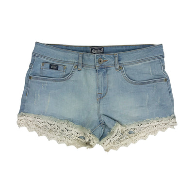 Superdry Lace Trim Hot Short Canyon Tint