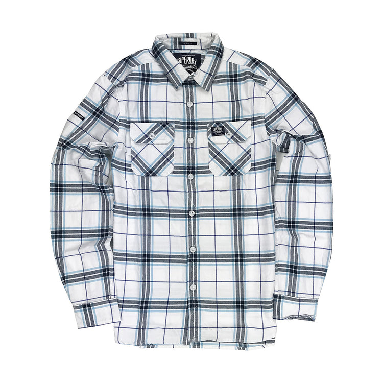 Superdry Lumberjack Lite L/S Shirt White Knight