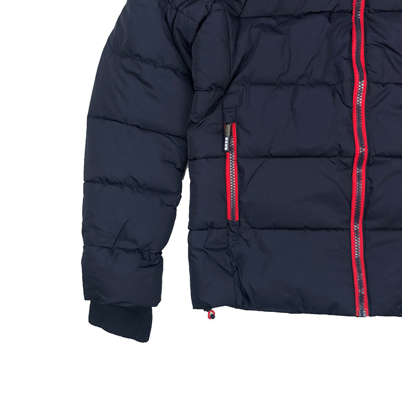 Superdry Men's Sports Puffer Jacket Navy Blue Trim