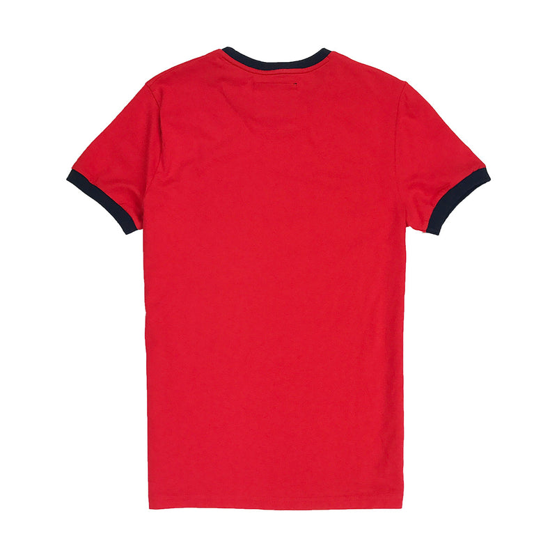 Superdry Standard Issue Ringer Tee Red Back