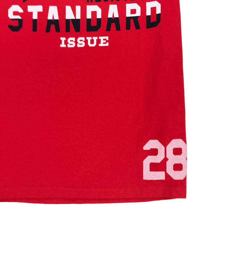 Superdry Standard Issue Ringer Tee Red Waist
