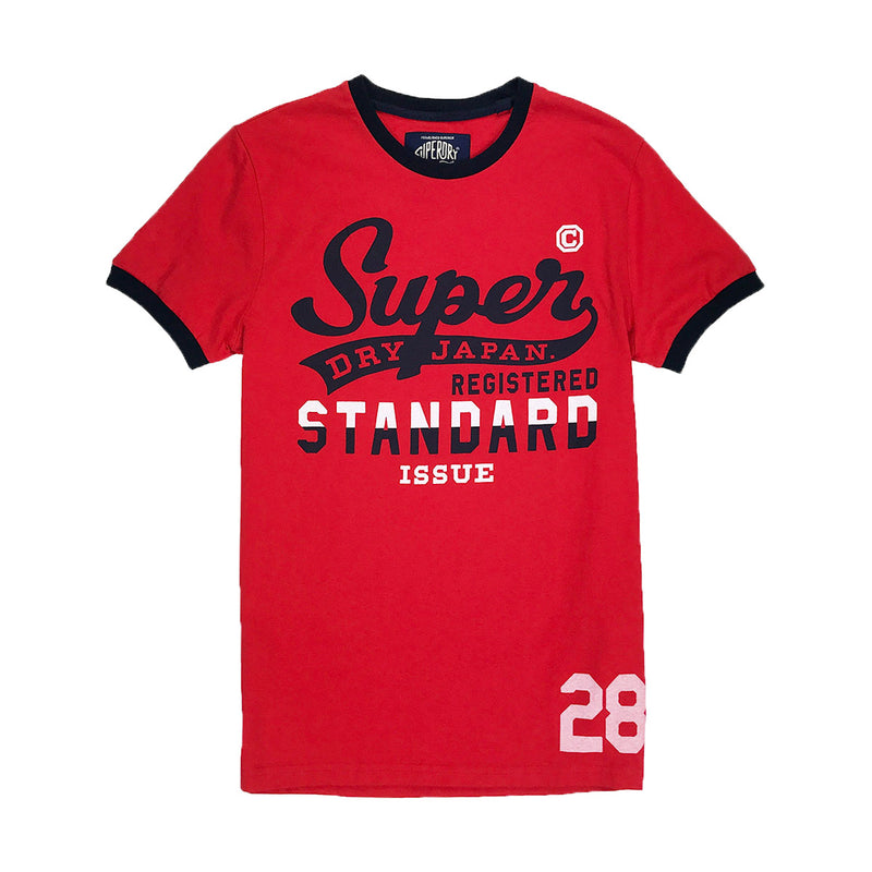 Superdry Standard Issue Ringer Tee Red