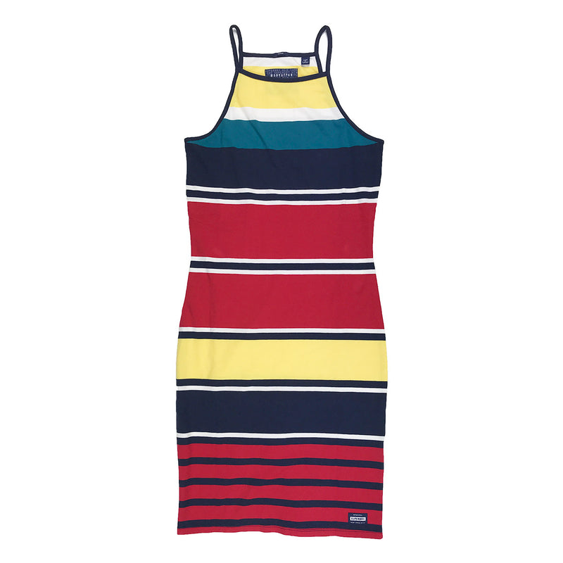 Superdry Strappy Stripe Dress Multi