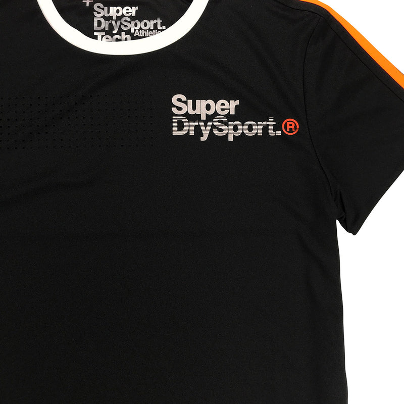 Superdry Team Tech Tee Original Black Neckline