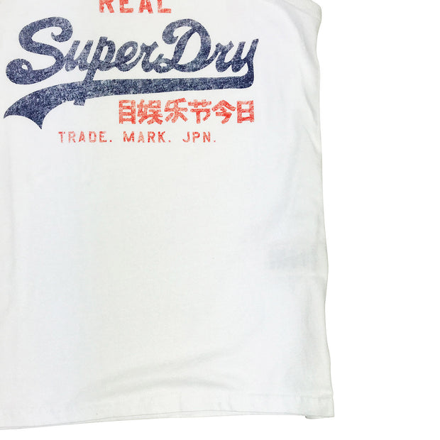 Superdry Vintage Logo Duo Entry Vest White Waist