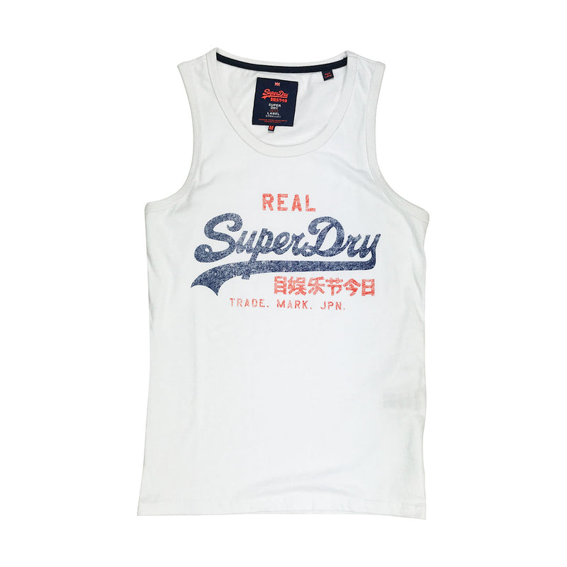 Superdry Vintage Logo Duo Entry Vest White