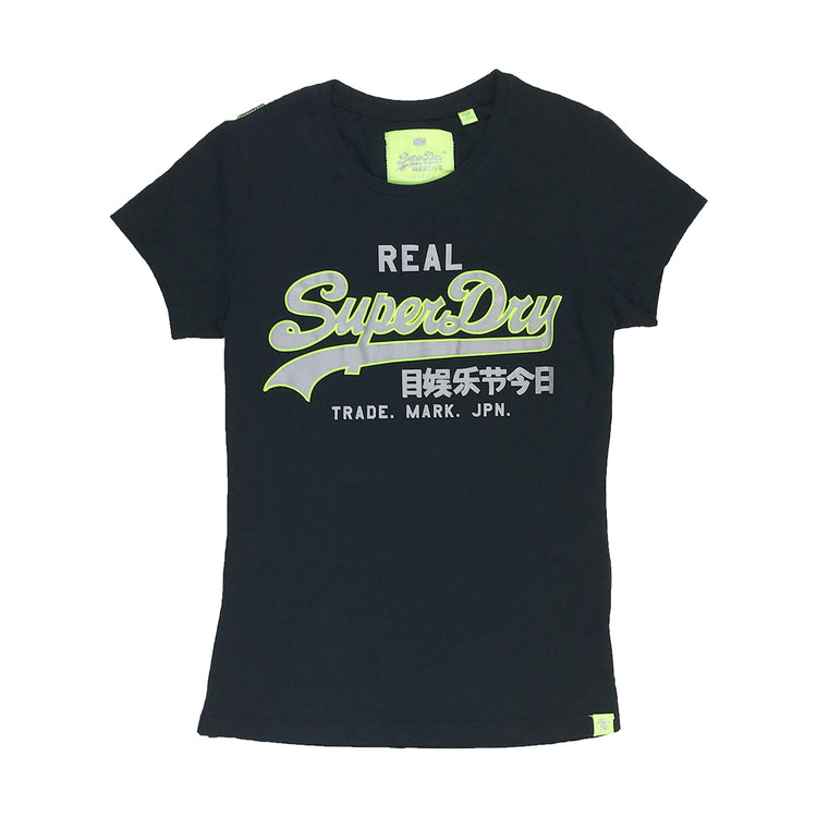 Superdry Vintage Logo Neon Entry Tee Black