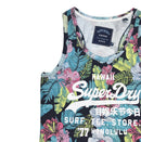 Superdry Women's Surf Shop AOP Entry Vest Blue Neckline