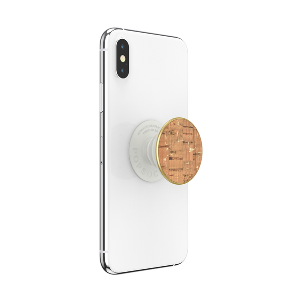 NYHET 🔄 PopSockets - Metallic Cork Gold POPGRIP