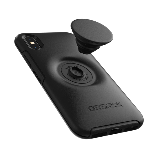 NYHET 🔄 OTTER + POP, deksel med PopSockets - BLACK (iPhone 7PLUS/8PLUS)