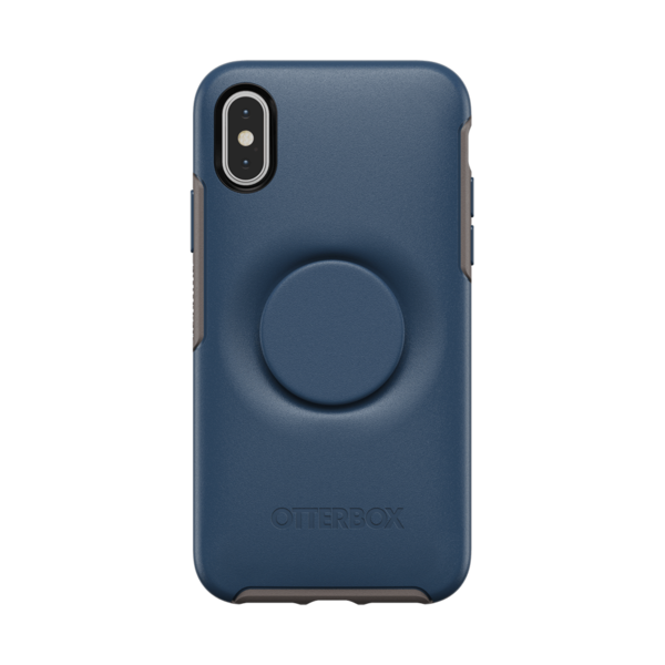 NYHET 🔄 OTTER + POP, deksel med PopSockets - BLUE (iPhone X/XS)
