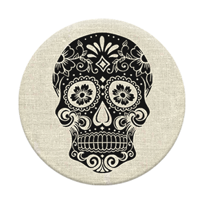 PopSockets Sugarscull on Linen
