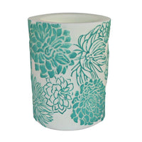 "6"" Chrysanthemum Recessed Pillar - Aqua"