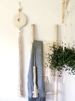 Stone & Long Tassle Natural DUE APRIL