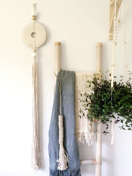 Natural Stone & Long Tassle