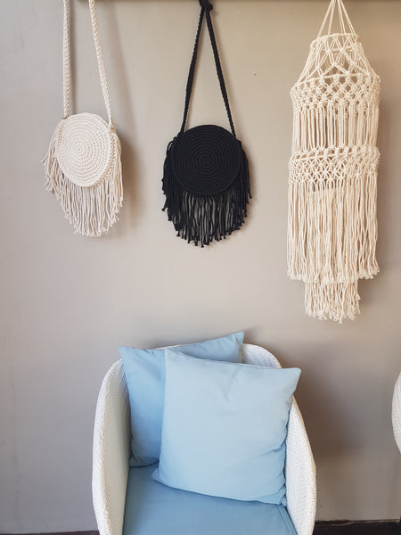 Macrame Round Bag Natural