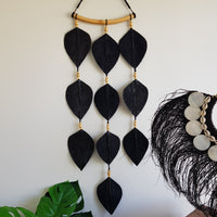 Leaf Wall Hanging Black