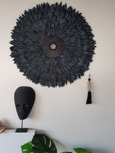 75cm Black Tribal Juju