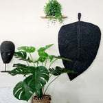Chunky Cotton Leaf - Washed Black