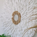 75cm White & Raffia Juju DUE END APRIL
