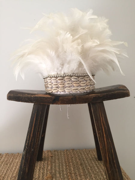 Mini Head Dress - White