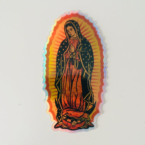 Holographic Our Lady of Guadalupe Sticker