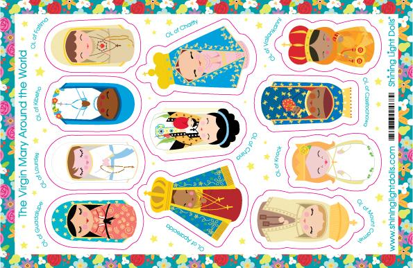 The Virgin Mary Around The World Sticker Sheet