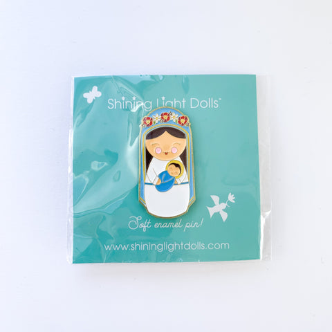 Mary Mother of God Soft Enamel Pin by Shining Light Dolls