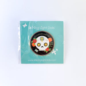 Memento Mori Soft Enamel Pin by Shining Light Dolls