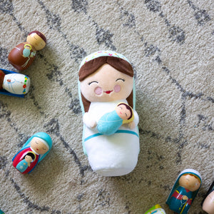 Mother Mary Plush Doll