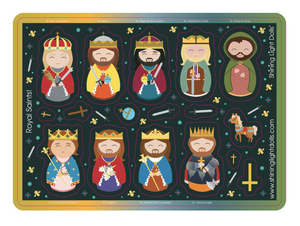 Royal Saints Sticker Sheet-Kings and Princes!