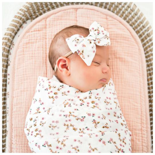 Aubree Swaddle Wrap & Bow