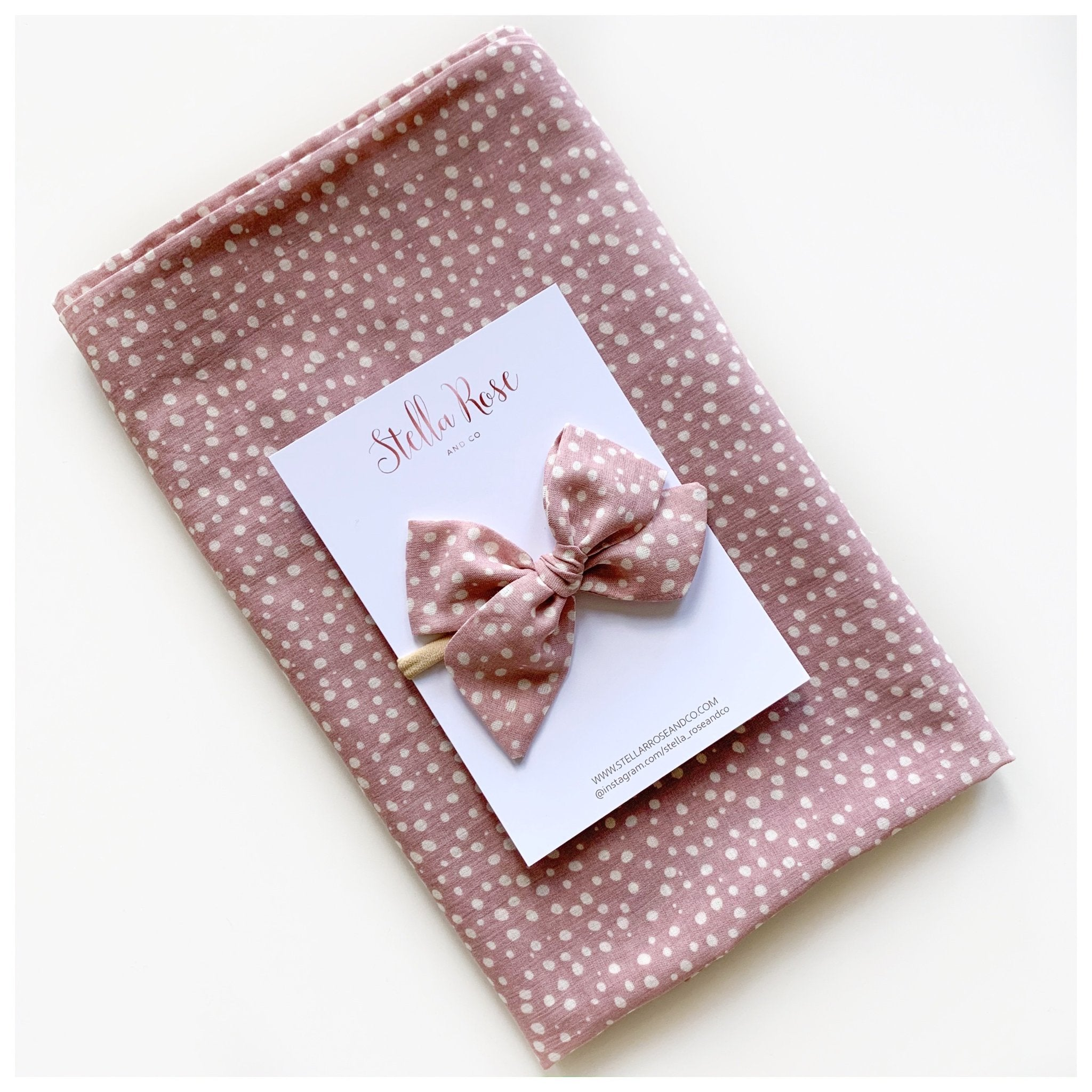 Poppy Swaddle Wrap & Bow
