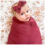 Ruby Swaddle Wrap & Bow
