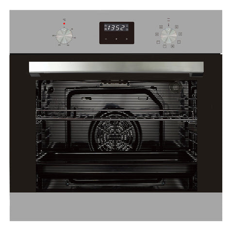 600mm 76Litre Oven, 8 Function, Stainless Steel