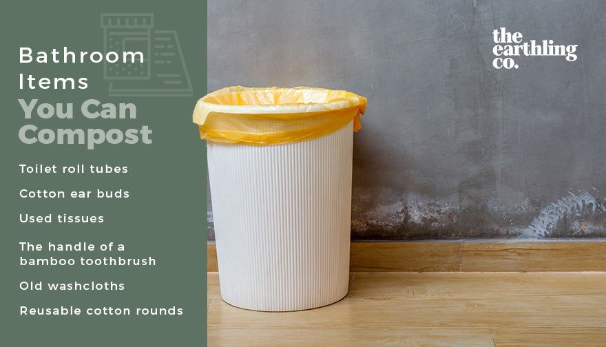 bathroom items you can compost