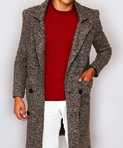 Tetu Faux Tweed Coat