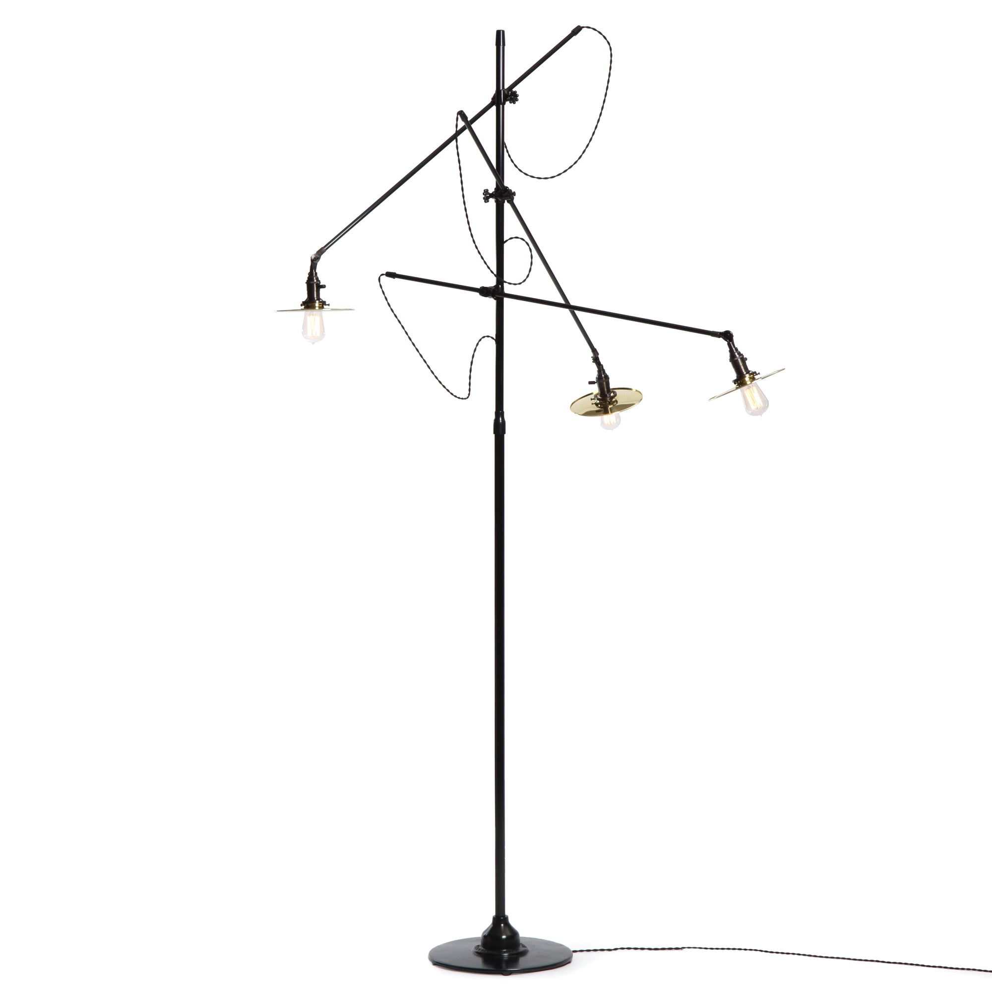 Adjustable 3 Arm Floor Lamp - Lighting - O.C. White WYETH