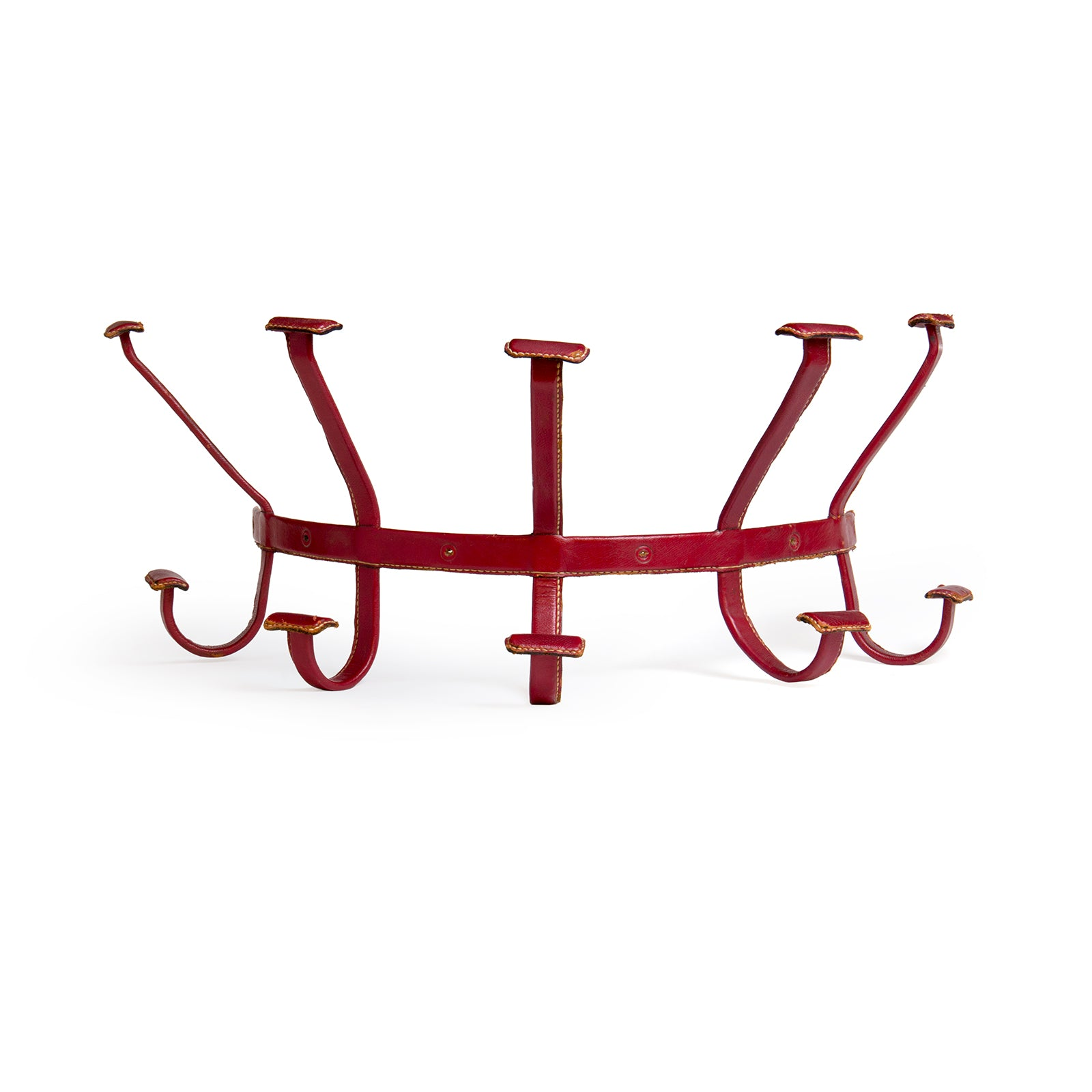 Leather Wrapped Mounted Coatrack