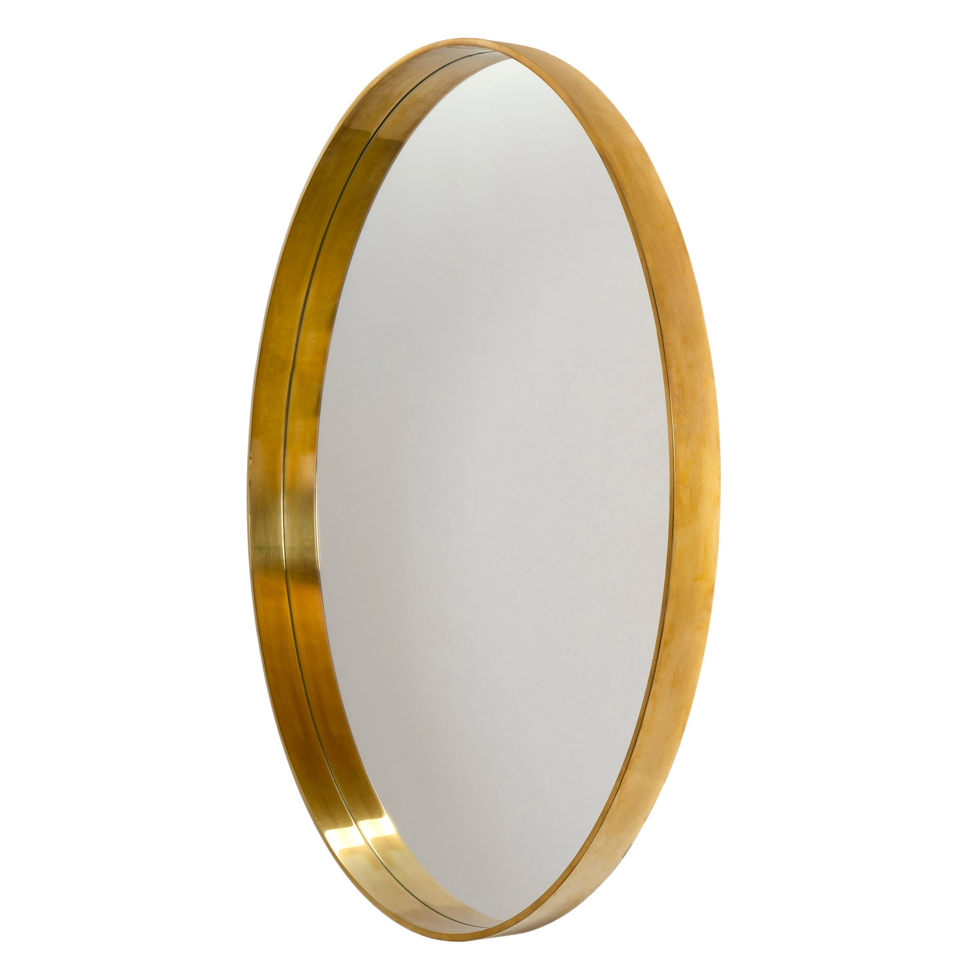 "WYETH Original 55"" Minimalist Round Mirror in Bronze"