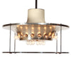 Extraordinary Glass Ceiling Chandelier by Max Ingrand for Fontana Arte - Lighting - Max Ingrand WYETH