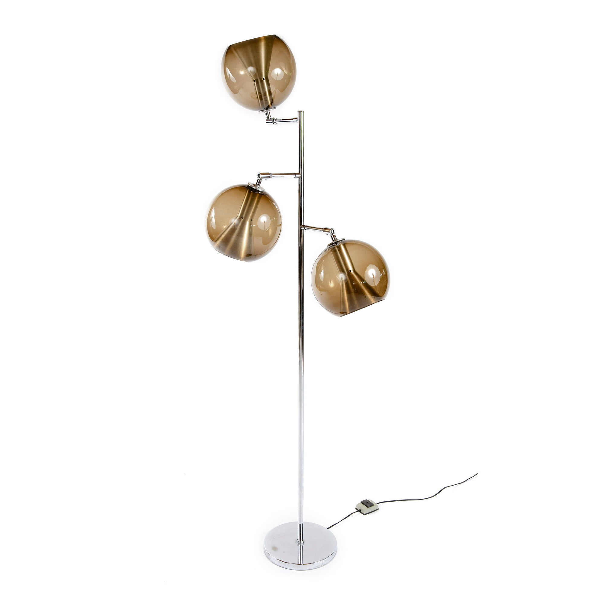 Smoke-Glass Floor Lamp