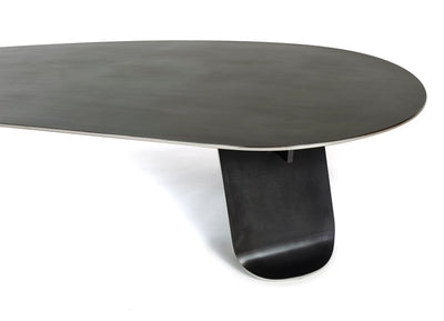 WYETH Chrysalis Table No. 1 in Blackened Stainless Steel with Polished Edges - Tables - WYETH WYETH