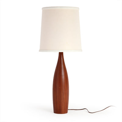Pair of Turned Teak Table Lamps - Lighting - ESA WYETH