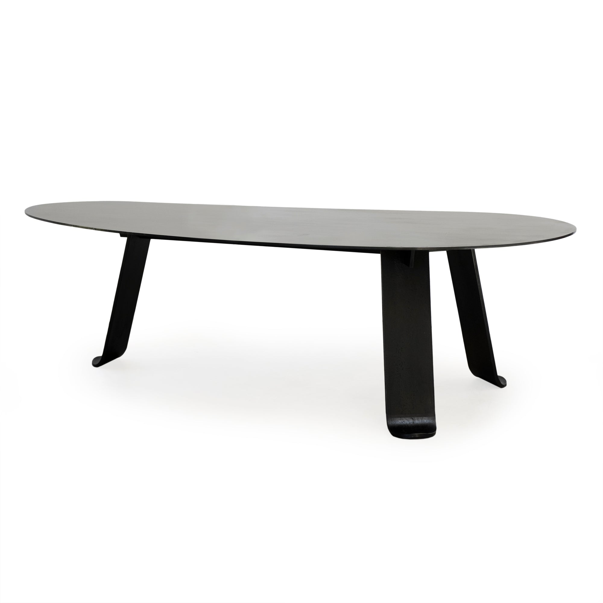 WYETH Chrysalis Dining Table / Desk No. 1 in Blackened Steel with Hot Zinc Finish